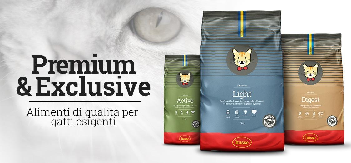 Cibo per gatti Husse - Premium & Exclusive - Alimenti di alta qualità con i migliori ingredienti per i tuoi adorati amici a quattro zampe